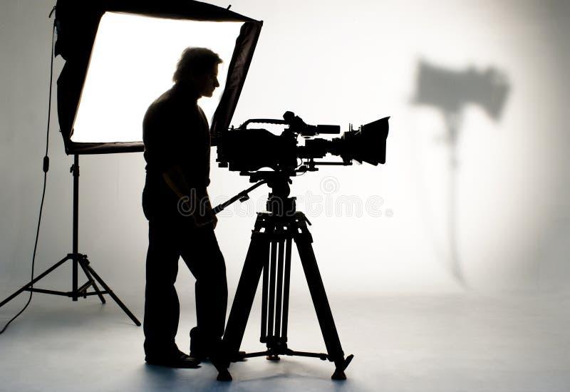 Luz do estúdio na posição para a cena do filme. imagens de stock royalty free