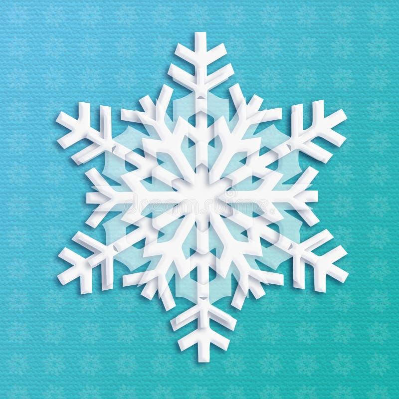 Luz do floco de neve ilustração do vetor