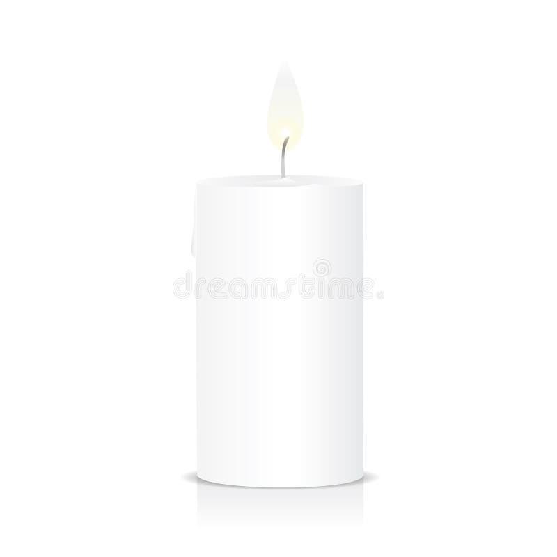 Luz do fogo da chama de vela ilustração do vetor