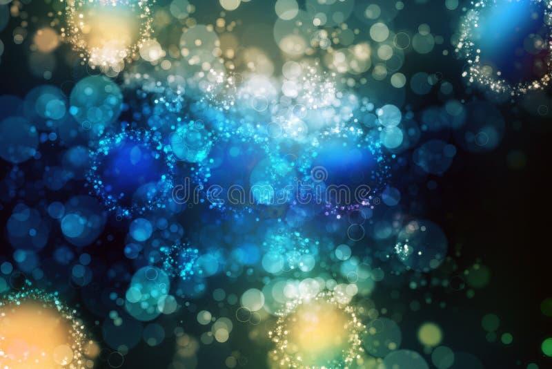 Luz do fundo do grunge de Bokeh - azul imagem de stock royalty free