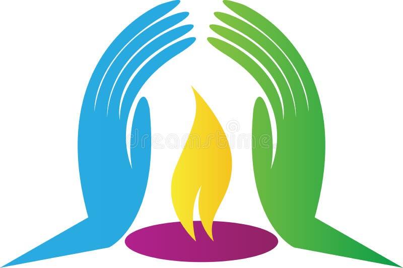 Luz do logotipo da confiança ilustração royalty free