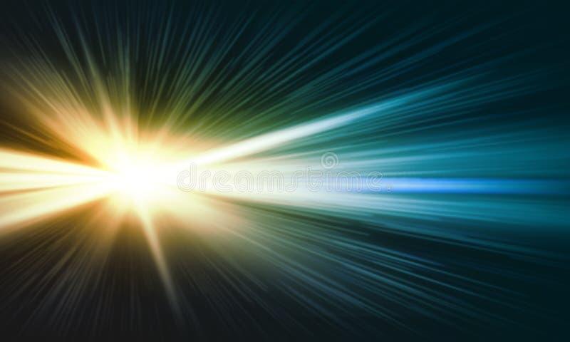 Luz do outeiro ilustração do vetor