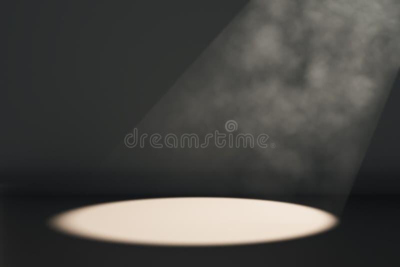 Luz do ponto no fundo preto ilustração do vetor