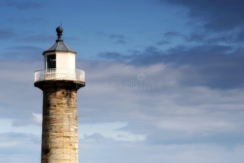 Luz do porto de Whitby fotos de stock