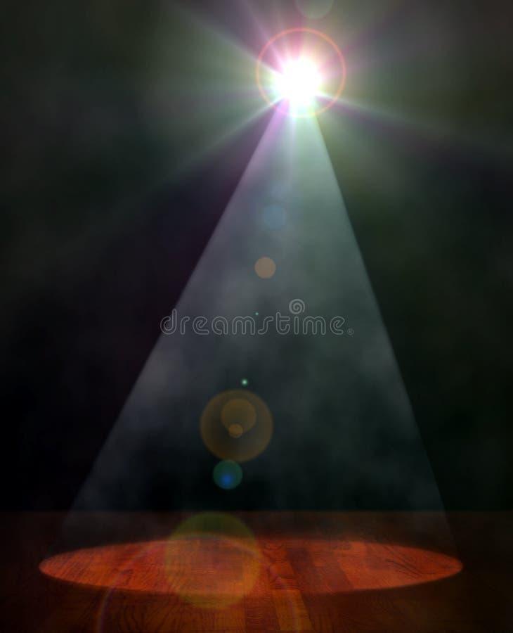 Luz do projetor na fase ilustração royalty free
