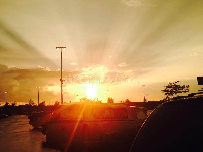 Luz do sol brilhante fotografia de stock