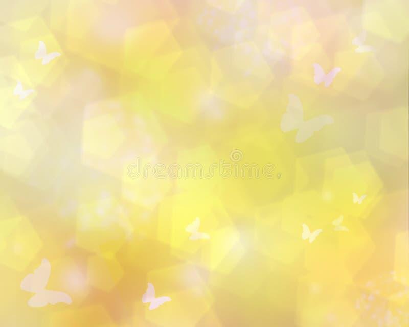 Luz do sol com borboletas ilustração stock