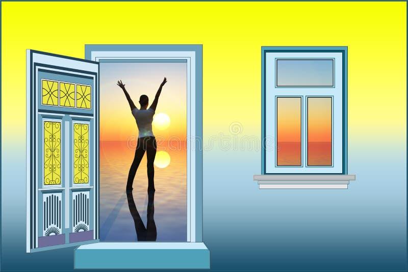 Luz do sol da boa manhã ilustração royalty free