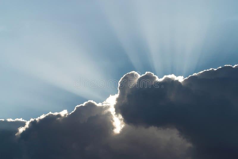 Luz do sol de Heavenâs imagem de stock