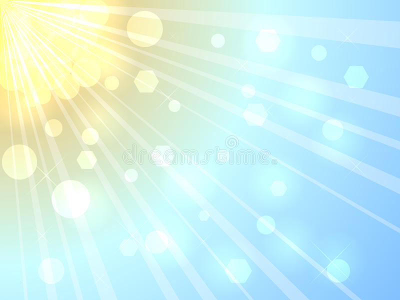 Luz do sol do verão ilustração do vetor