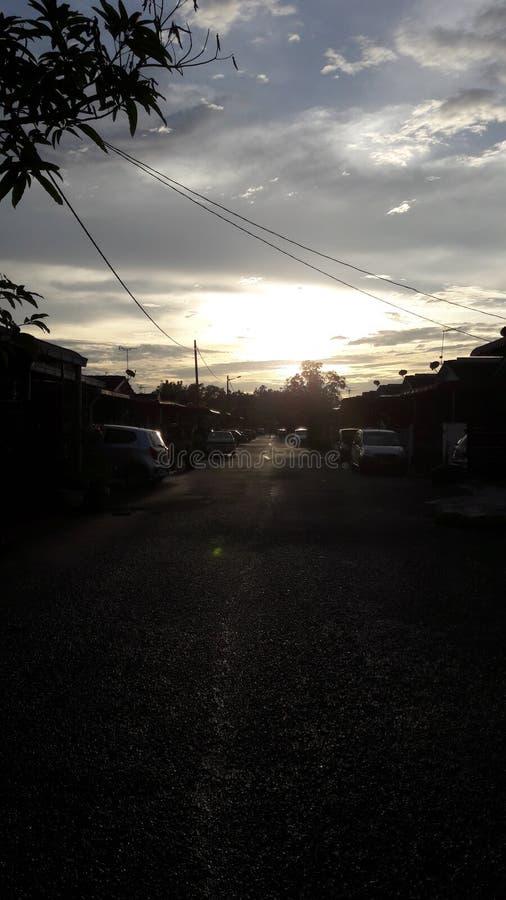 Luz do sol na cidade natal fotografia de stock