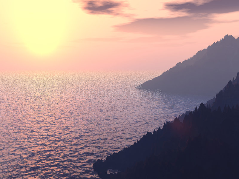 Luz do sol no mar foto de stock royalty free