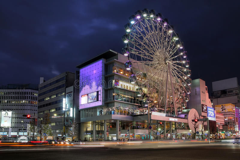 Luz Do Sol Sakae, Nagoya, Japão Foto Editorial