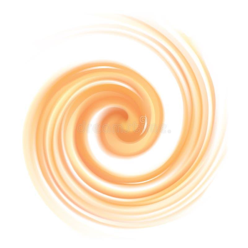 Luz do vetor - fundo alaranjado da textura de roda ilustração stock