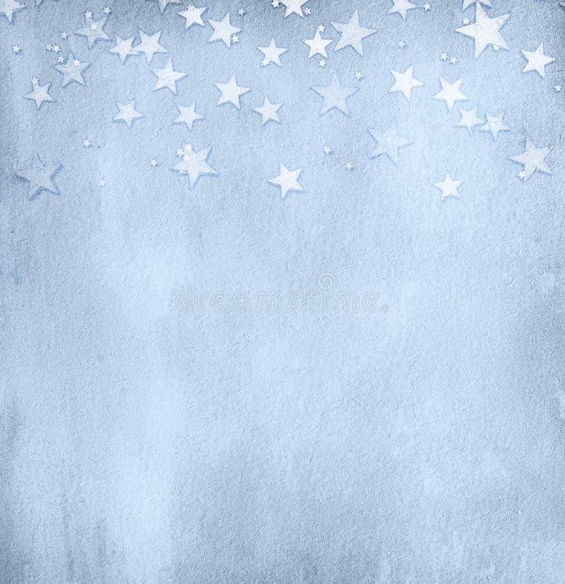 Luz do vintage - papel azul foto de stock royalty free