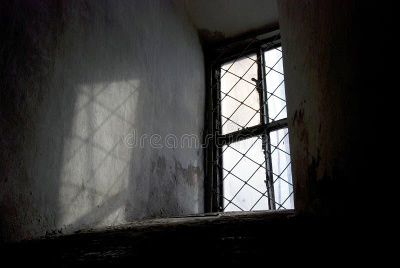 Luz durante todo a janela sombra líquida foto de stock