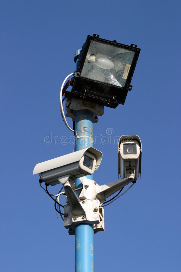 Luz e câmeras da segurança foto de stock royalty free
