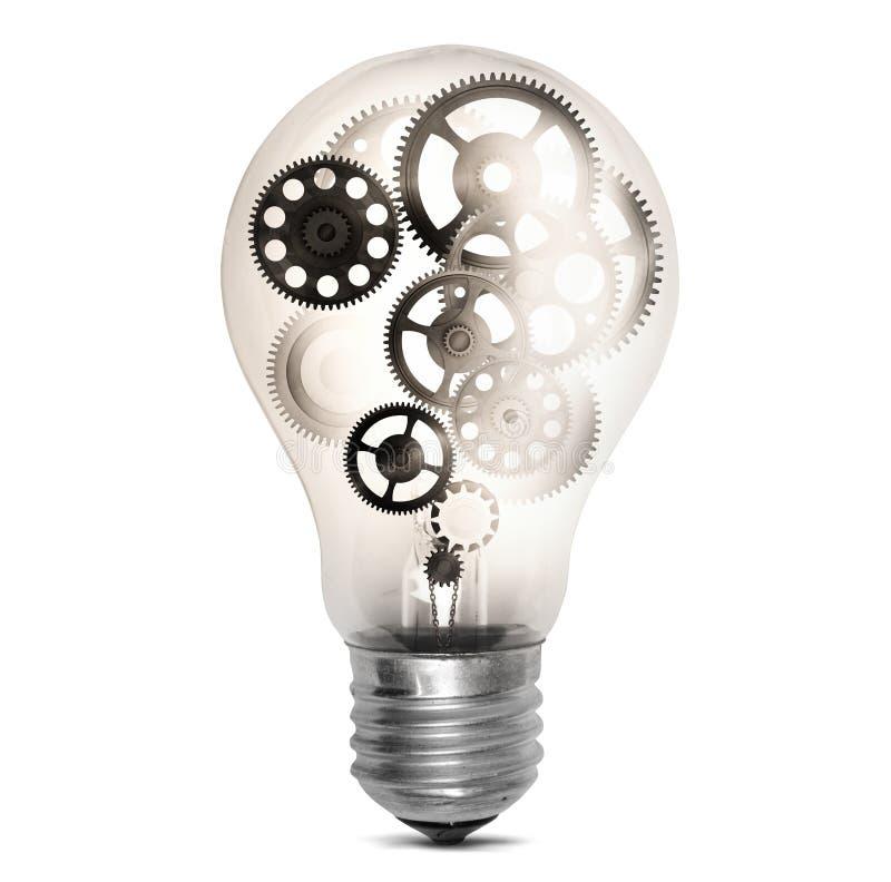 Luz e engrenagem imagem de stock