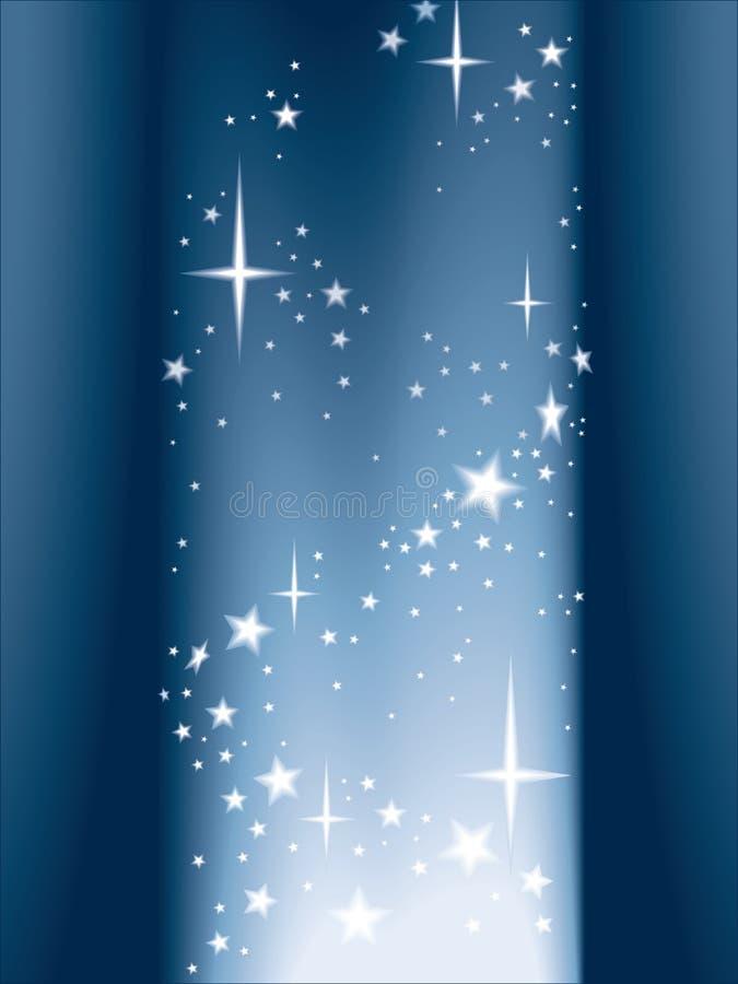 Luz e estrelas, vetor ilustração do vetor