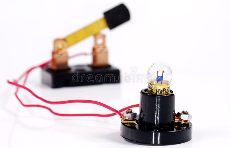 Luz e interruptor fotografía de archivo libre de regalías