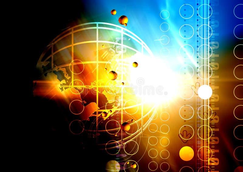 Luz e tecnologia ilustração do vetor