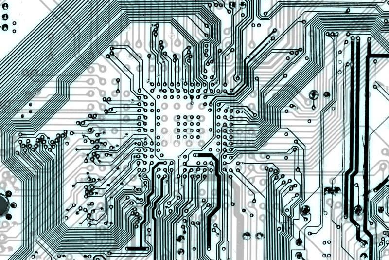 Luz eletrônica industrial da tecnologia - fundo azul ilustração stock