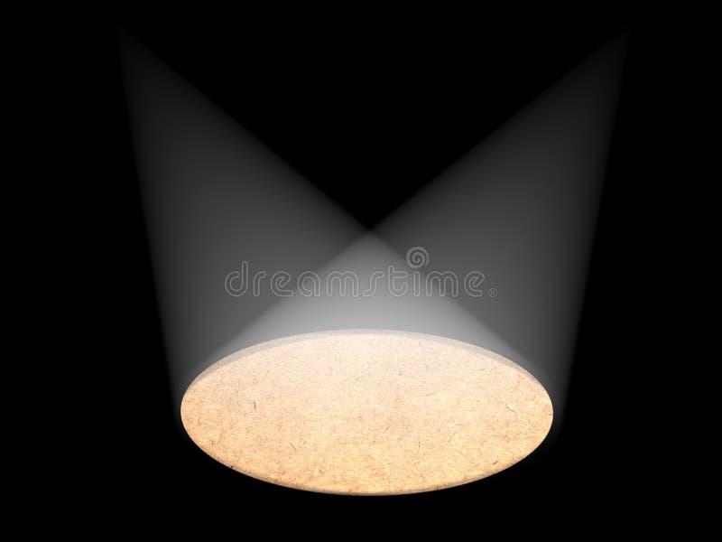 Luz em um estágio ilustração royalty free