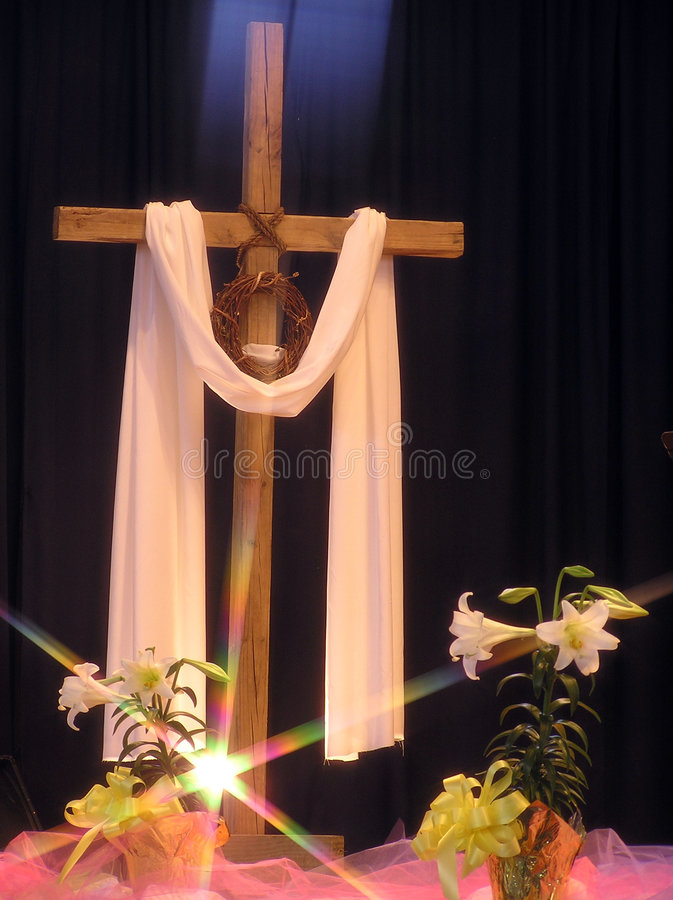Luz em uma cruz de Easter