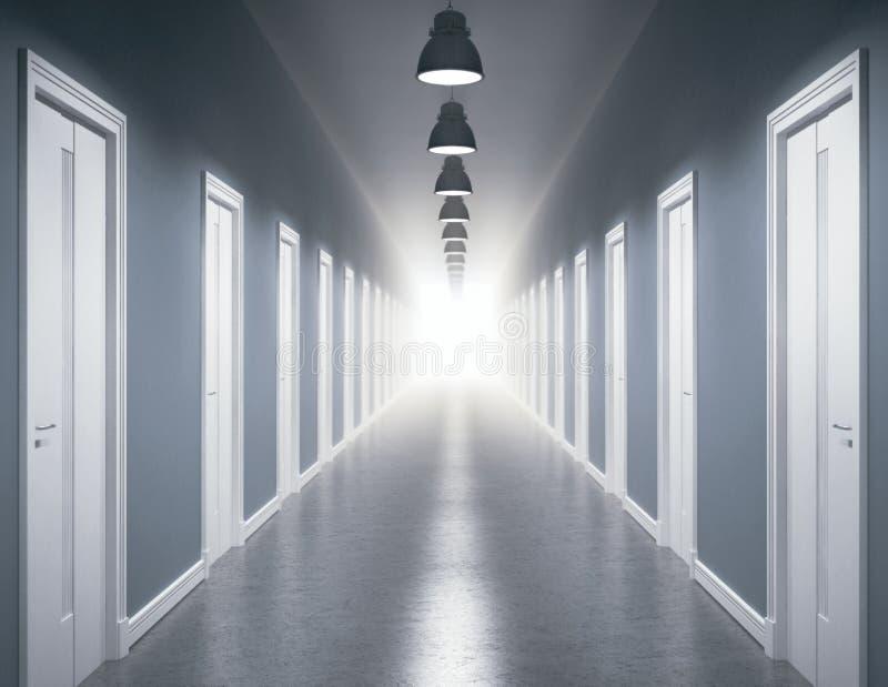 Luz en el extremo del pasillo libre illustration
