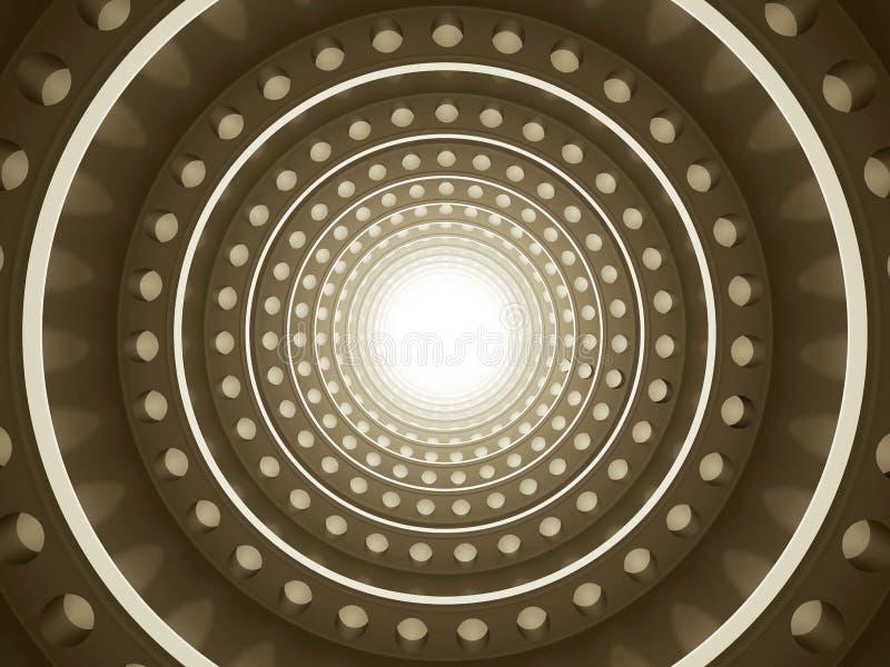 Luz en el extremo del túnel ilustración del vector