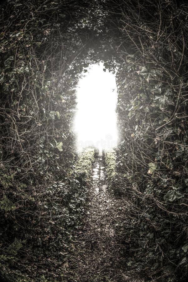 Luz en el extremo del tunne imagenes de archivo