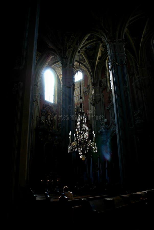 Luz en la iglesia imágenes de archivo libres de regalías