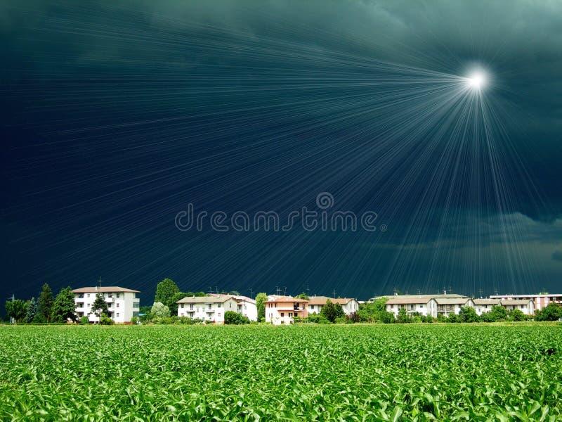 Luz en nubes imagen de archivo libre de regalías