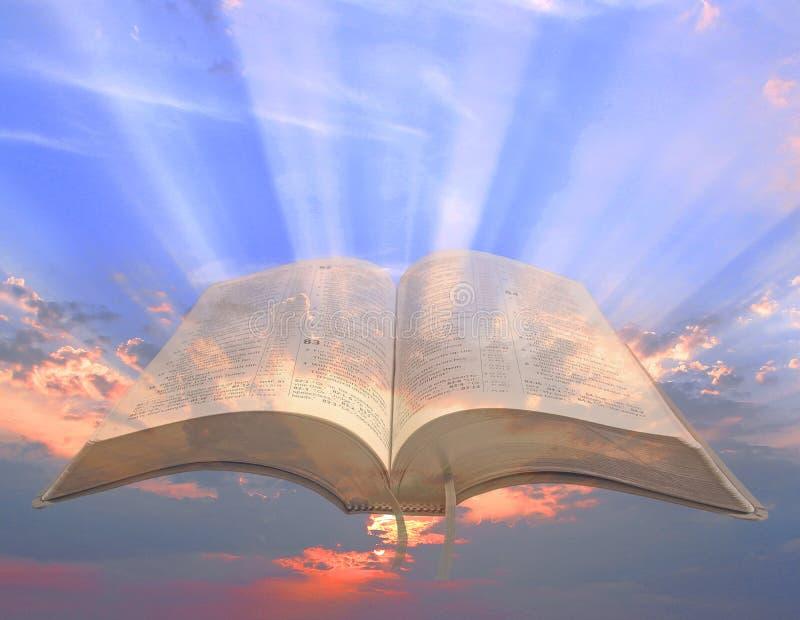 Luz espiritual divina abrir dioses de la Biblia palabra escritura testamento cielo milagros parábolas historia jesus imágenes de archivo libres de regalías