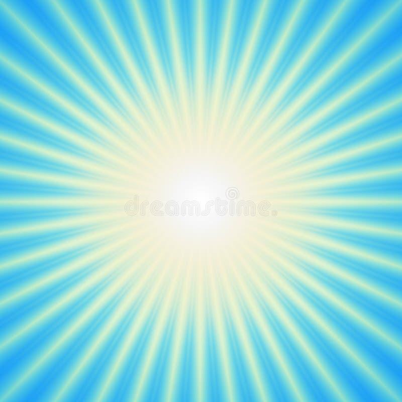 Luz estourada sobre o fundo ciano ilustração royalty free