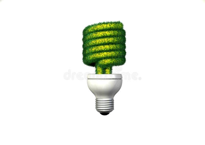 Luz fluorescente compacta gramínea fotografia de stock