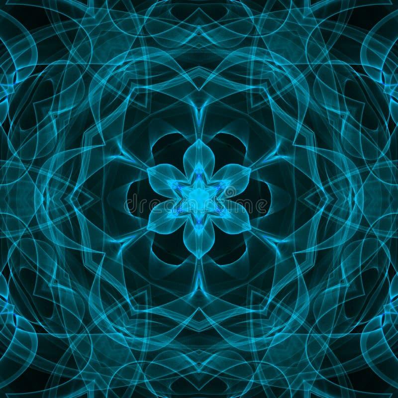Luz, forma de la flor, llama hyperspace, azul, ejemplo digital abstracto libre illustration