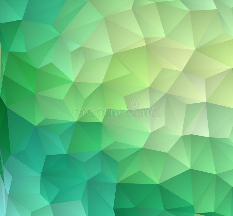 Luz - fundo abstrato geométrico moderno verde Fundo geométrico no estilo do origâmi com inclinação ilustração do vetor