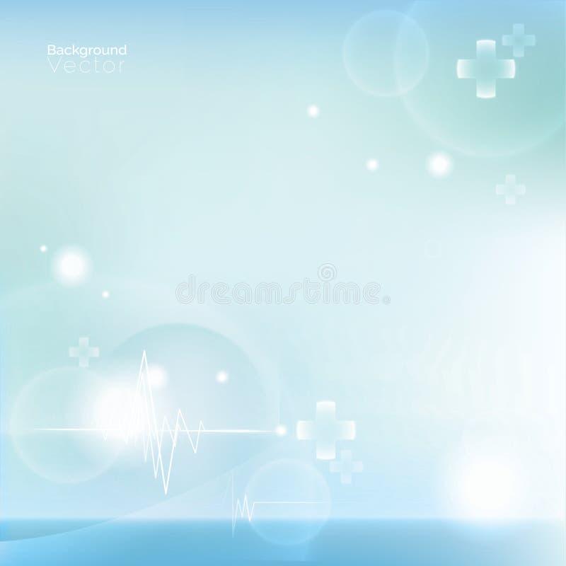 Luz - fundo abstrato médico azul ilustração royalty free