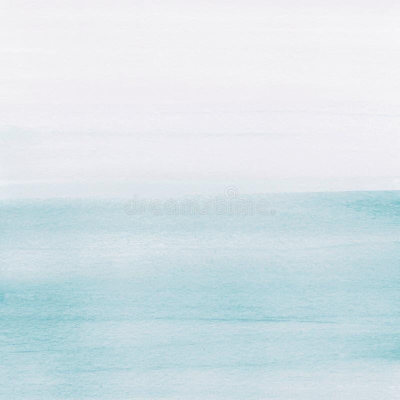 Luz - fundo azul da textura da aquarela, pintado à mão foto de stock royalty free