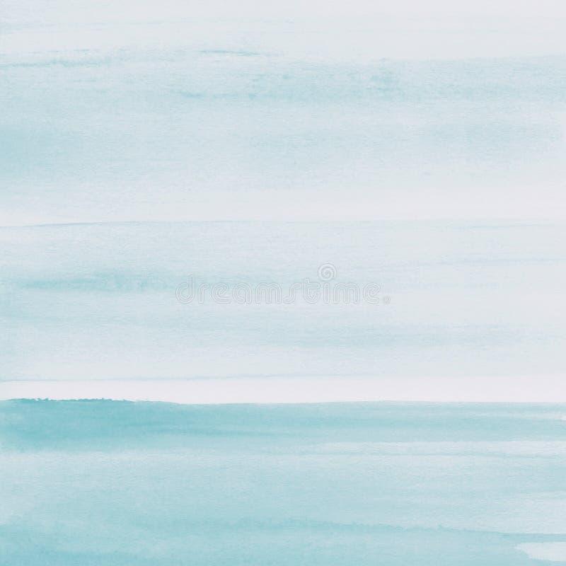 Luz - fundo azul da textura da aquarela, pintado à mão fotografia de stock royalty free