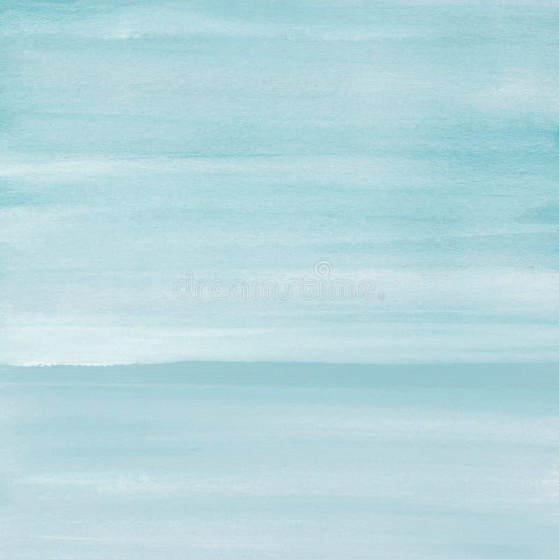 Luz - fundo azul da textura da aquarela, pintado à mão imagem de stock royalty free