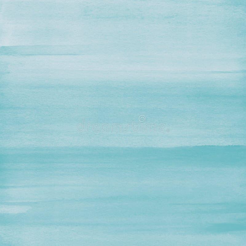 Luz - fundo azul da textura da aquarela, pintado à mão imagens de stock