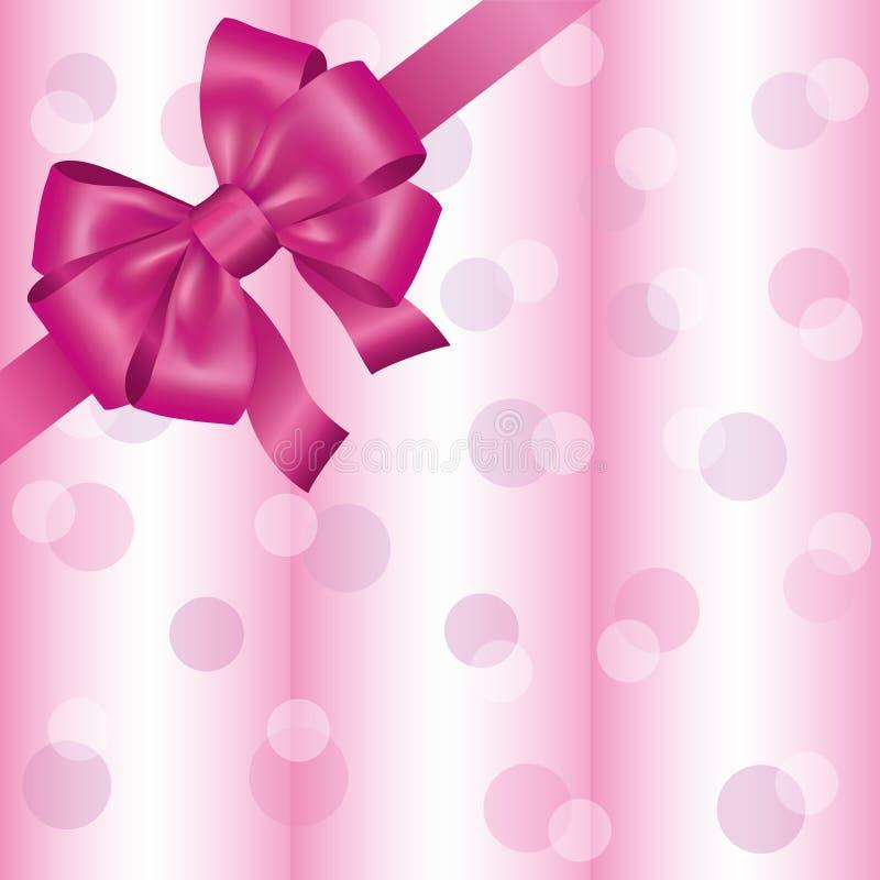 Luz - fundo cor-de-rosa com fita e curva ilustração royalty free