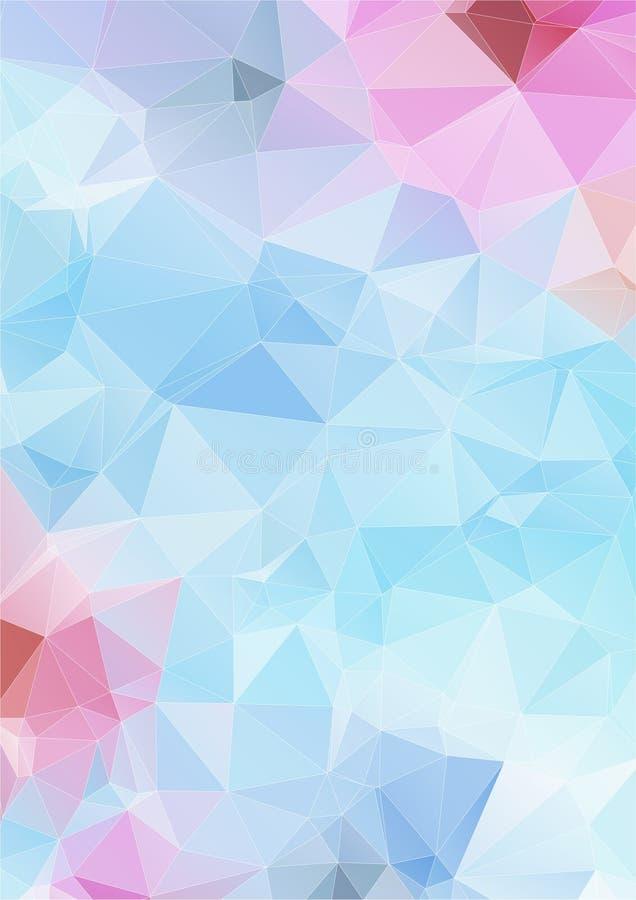 Luz - fundo poligonal abstrato azul ilustração royalty free