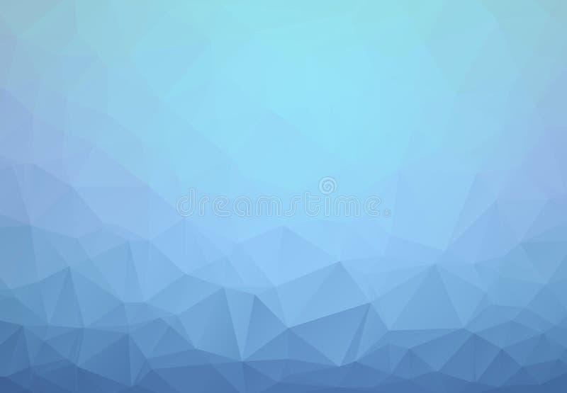 Luz - fundo poligonal textured do vetor sumário azul Projeto obscuro do triângulo O teste padrão pode ser usado para o fundo ilustração royalty free