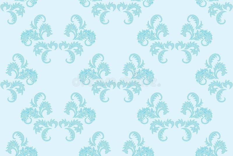 Luz - fundo sem emenda floral azul ilustração stock