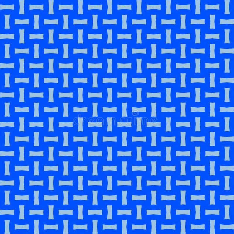 Luz - fundo transversal azul do teste padrão da repetição do Weave ilustração do vetor