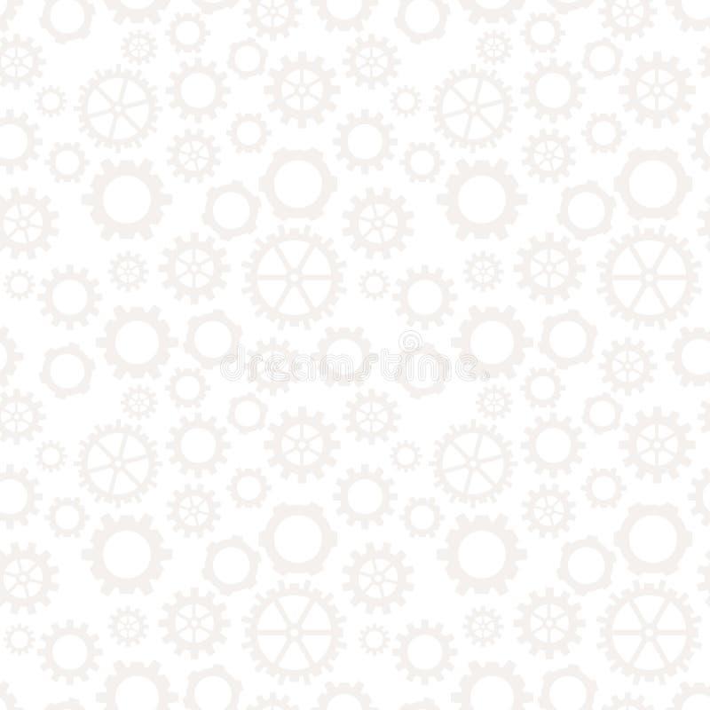 Luz geométrica abstrata da engrenagem - teste padrão cinzento da roda da roda denteada do projeto gráfico ilustração do vetor