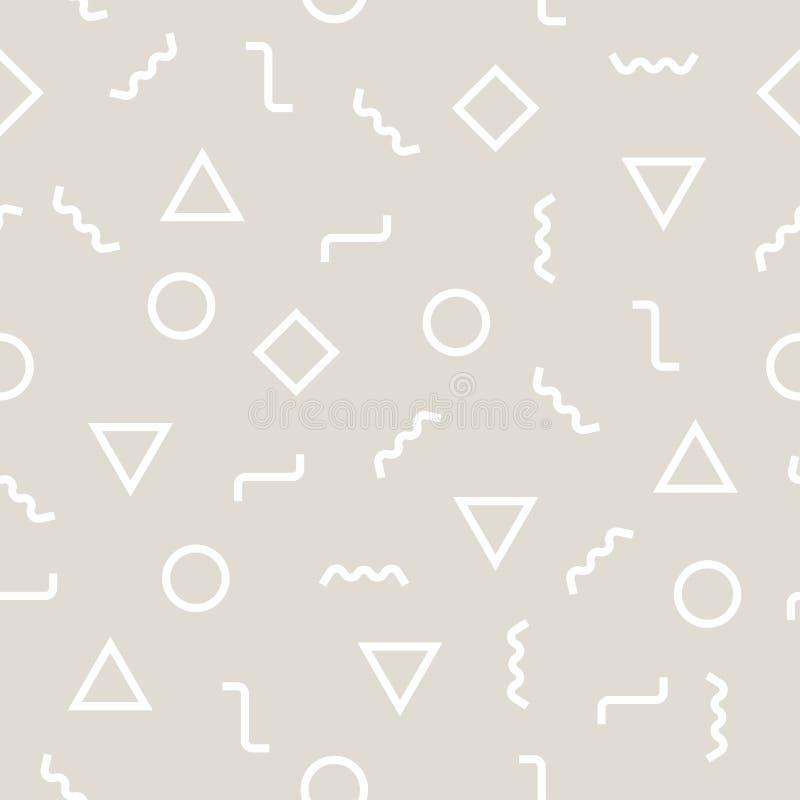 Luz geométrica abstrata - teste padrão cinzento do deco do projeto gráfico ilustração royalty free